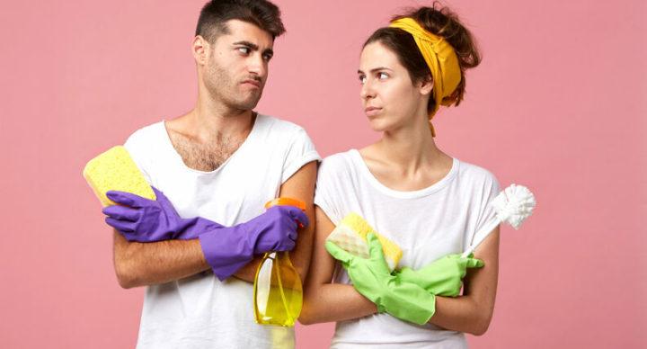 Tarefas domésticas são a causa de conflitos para muitos casais